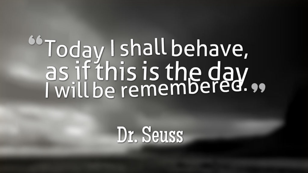 be remembered